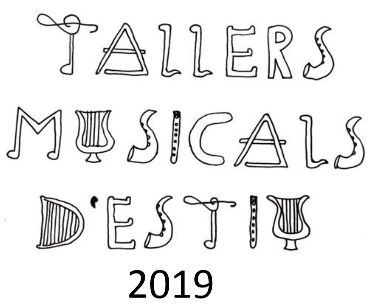 Tallers Musicals d'Estiu 2019
